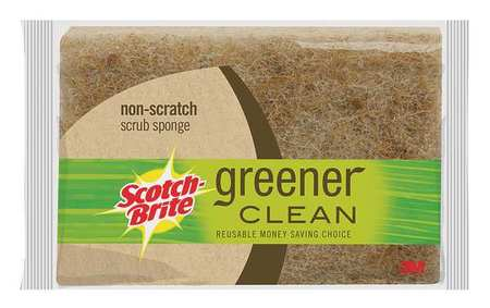 "SCOTCH-BRITE Scrubber Sponge, 4-1/2""L, Brown, PK3"