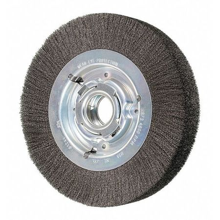 """Pferd 8"""" Crimped Wire Wheel - Wide Face - .006 CS Wire,  2"""" Keyed A.H. 81244"""
