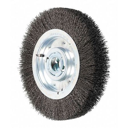 """Pferd 10"""" Crimped Wire Wheel - Wide Face - .020 CS Wire,  2"""" Keyed A.H. 81255"""