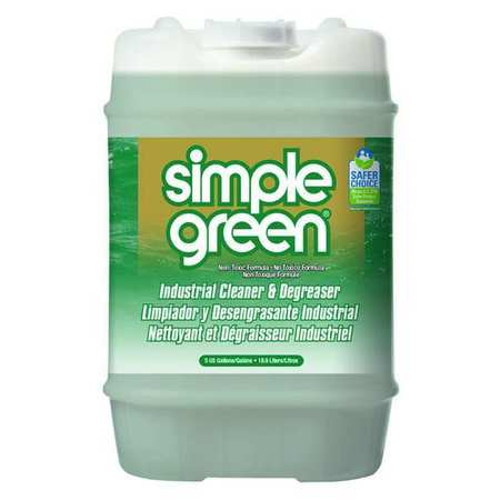 Simple Green Liquid 5 gal. Industrial Cleaner and Degreaser,  Pail 2700000113006