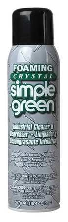 Simple Green Foam 20 oz. Crystal Industrial Cleaner and Degreaser,  Aerosol Can 0610001219010