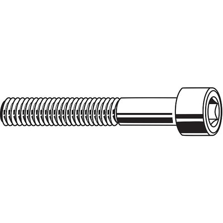 "1/4""-20 x 1-1/2"" Black Oxide Carbon Steel Socket Head Cap Screw,  100 pk."