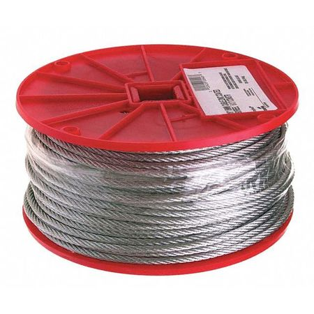 """Campbell 1/16"""" 7 x 7 Cable,  Galvanized Wire,  500 Feet per Reel 7000227"""