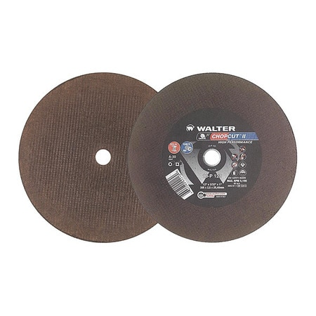 12 in Abrasive Wheel with A-30 Grit Walter 10P123 CHOPCUT Performance Cutoff Wheel - Surface Finishing Wheel Pack of 10