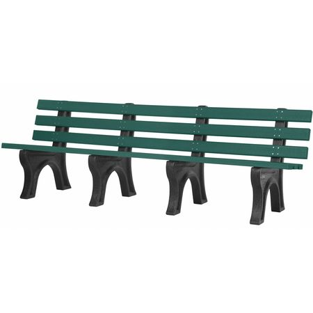 Sensational Trailside Bench Green 8 Ft Andrewgaddart Wooden Chair Designs For Living Room Andrewgaddartcom