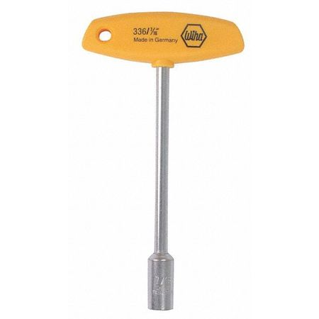 Wiha Tools 1/4In. X 6.0In. T-Handle Inch Nut Driver 33659