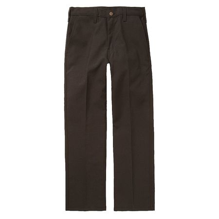 Workrite Pants, 40 in., Black, Zipper and Button FP52BK 40 36