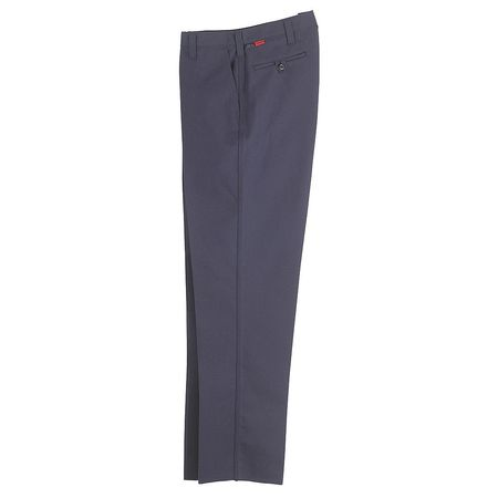 Workrite Pants, 33 in., Navy, Zipper and Button FP52MN 33 34