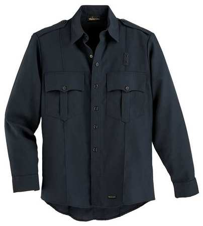 """Workrite Flame Resistant Collared Shirt,  Navy,  Nomex(R),  46"""" FSE0NV 46 0R"""