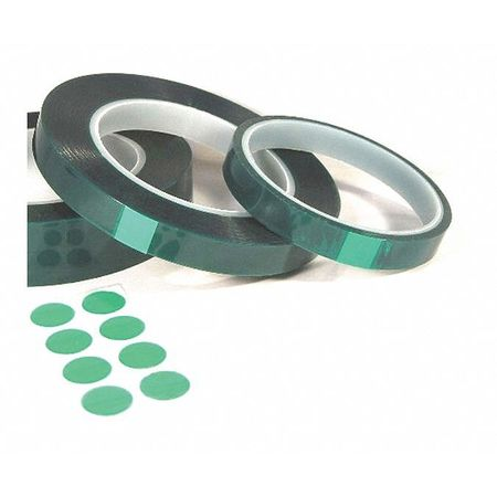 Mj May Grn Polyester Tape, Si Adh., .002x6x36 yd. 492II-5458GS-0636