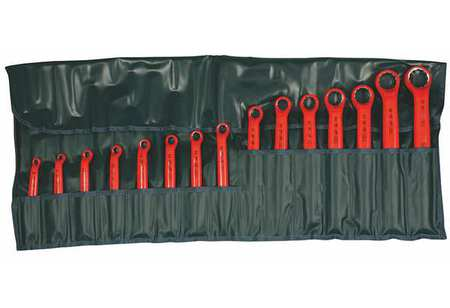 """Insul Box Wrench Set, 1/4"""" to 1-1/4"""", 15pc"""
