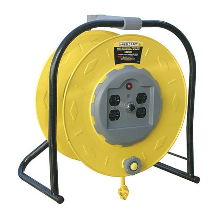 Reelcraft Cord Reel, Industrial, 120VAC, STW, Yellow LH3100