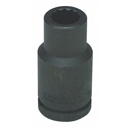 """Wright Tool 3/4"""" Dr,  15/16"""" Size,  SAE Impact Socket,  12 Pts 6980"""