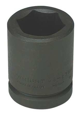 """Wright Tool 3/4"""" Dr,  27mm Size,  Metric Impact Socket,  6 Pts 68-27MM"""