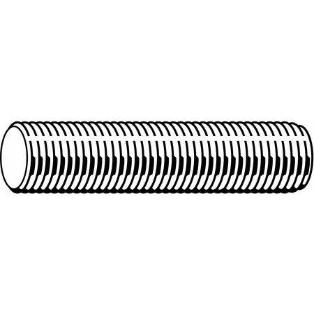 Pack of 6 3//8-24 x 1 Zinc Plated Low Carbon Steel Threaded Rod,