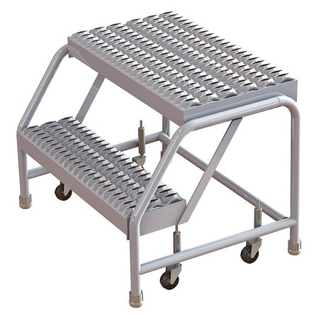 Terrific 2 Steps 20 H Aluminum Rolling Ladder 350 Lb Load Capacity Ocoug Best Dining Table And Chair Ideas Images Ocougorg