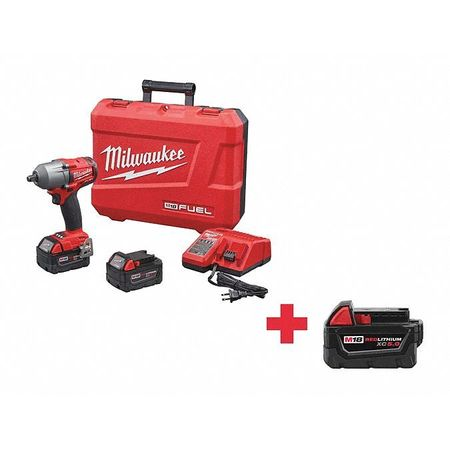 """Milwaukee 2861-20 M18 FUEL 1//2/"""" Mid-Torque Impact Wrench w//Friction Ring Tool"""