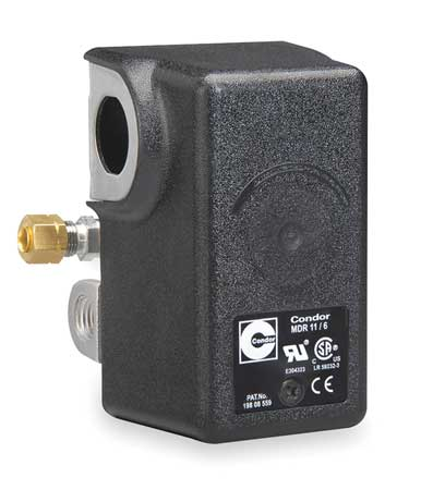 Condor Usa, Inc Pressure Switch,  (4) Port,  1/4 in FNPT,  DPST,  50 to 200 psi,  Standard Action 11WCXE