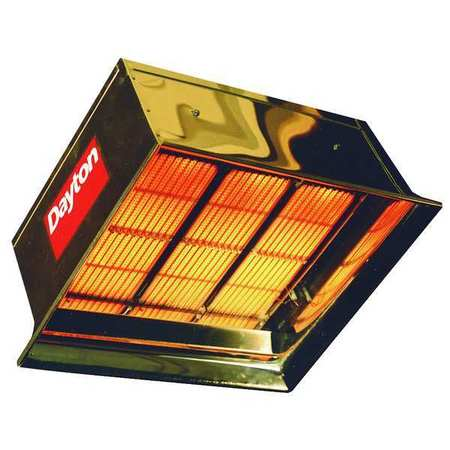 Dayton Commercial Infrared Heater,  NG,  90,000 BtuH Input,  22 1/2 in H x 3E134