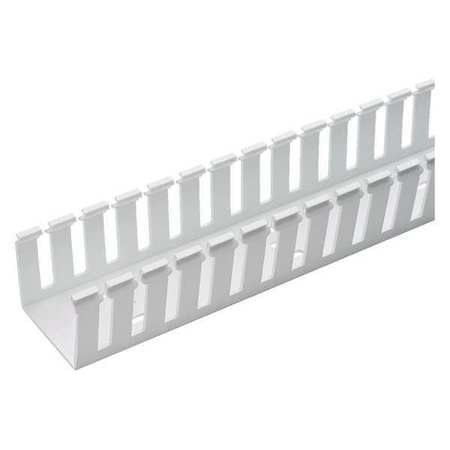 Wire Duct, Wide Slot, White, 2.25 W x 2 D on
