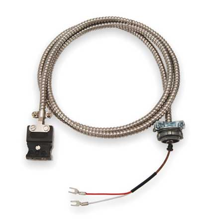 Tempco Thermocouple Ext Wire, J, 20AWG, Str, 50Ft ECA00075