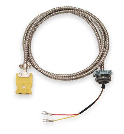 Tempco Thermocouple Ext Wire, K, 20AWG, Str, 25Ft ECA00079