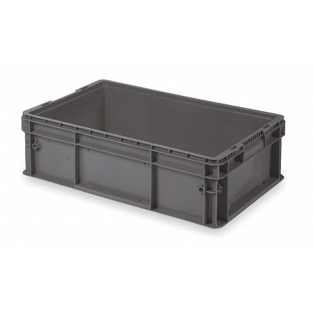 Buckhorn Gray Straight Wall Container 32 in x 15 in x 7 1/2 in H,  1 PK SW3215080201000