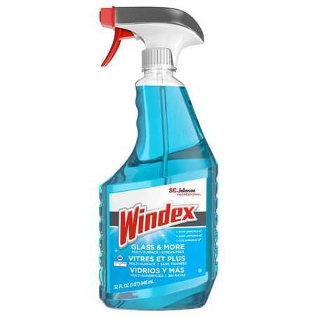 Windex Liquid Glass and Surface Cleaner,  32 oz.,  Blue,  Unscented 695237