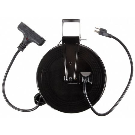 Bayco Products Inc 30 ft. 14/3 Retractable Cord Reel 3 Outlets 120VAC Voltage SL-801