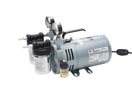 Vacuum Pump Rotary Vane 1 4 HP 26 In HG