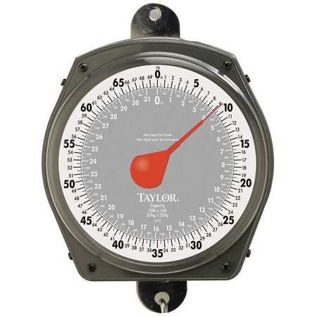 Taylor Mechanical Hanging Scale, 32kg/70 lb, Dial 3470410410