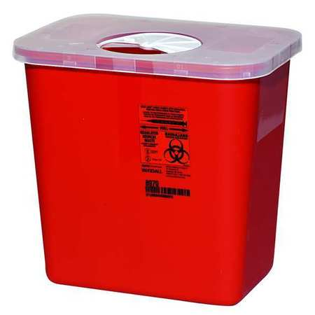 Covidien Sharps Container, 2 Gal., Rotor Lid, PK5 SRR0100970