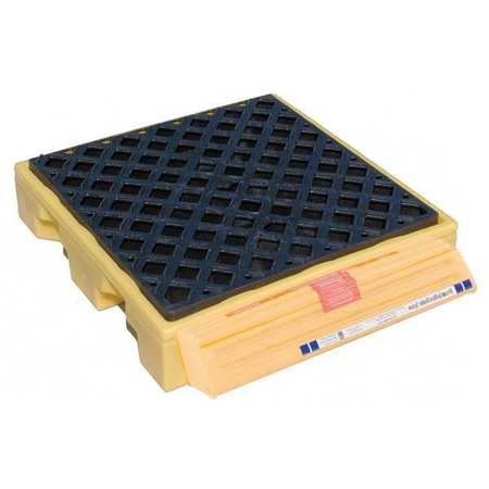 Ultratech Drum Spill Containment Pallet,  77 gal Spill Capacity,  1 Drum,  1500 lb,  Polyethylene 1320