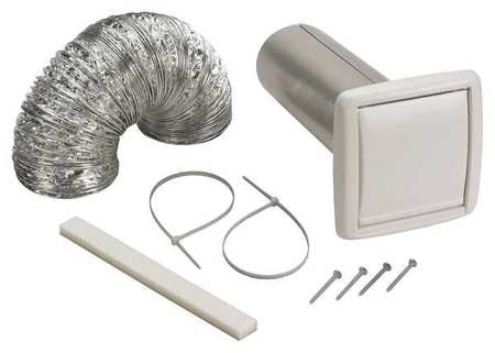 Broan Wall Vent Kit,  Flexible Duct,  5 ft. L WVK2A