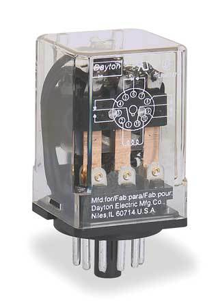 Dayton General Purpose Relay,  240V AC Coil Volts,  Octal,  11 Pin,  3PDT 5YP84