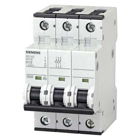 Siemens IEC Supplementary Protector,  0.3 A,  400V AC,  3 Pole,  DIN Rail Mounting Style,  5SY4 Series 5SY43147