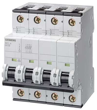 Siemens IEC Supplementary Protector,  63 A,  400V AC,  3+N Pole,  DIN Rail Mounting Style,  5SY4 Series 5SY46637