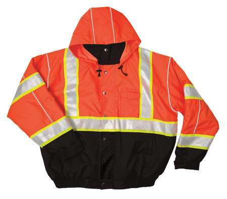 ML Kishigo Bomber Jacket Orange JS120-M M Hi-Vis