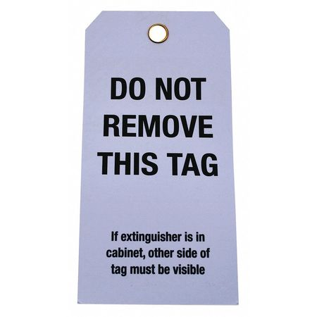 Badger Tag & Label Corp Fire Extinguisher Inspection Tag