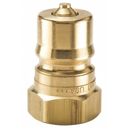 """Parker Hydraulic Quick Connect Hose Coupling,  Brass Body,  Ball Lock,  3/4""""-14 Thread Size,  60 Series BH6-61"""