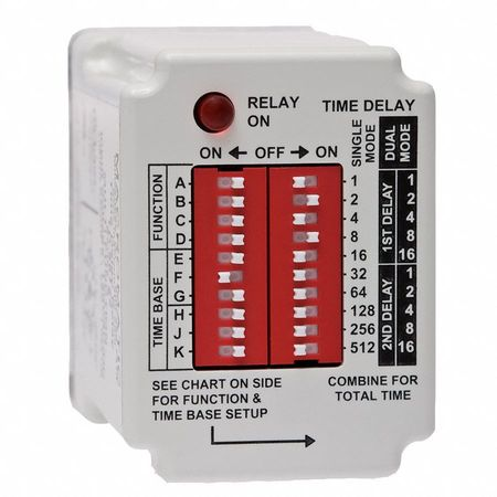 Macromatic Time Delay Relay, 24VAC/DC, 10A, SPDT TD-88168 ... on macromatic alternating relay, abb alternating relay, delay timer relay, macromatic phase monitor relay,