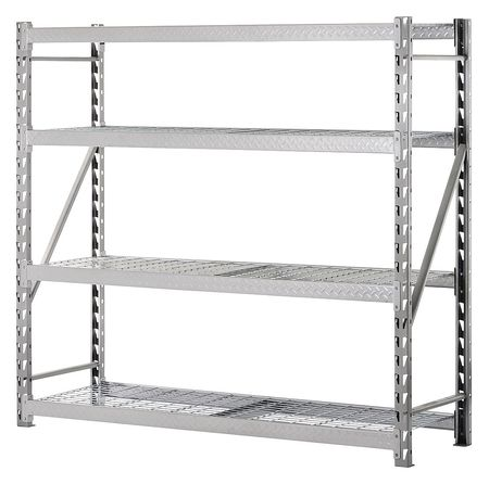 Bulk Storage Rack, Steel, 8000 lb., Silver
