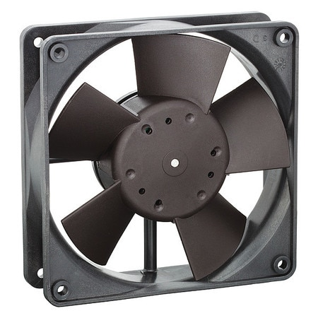 Ebm-Papst Axial Fan,  Square,  24V DC,  1 Phase,  100 cfm,  4 11/16 in W. 4314U