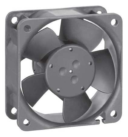 Ebm-Papst Axial Fan,  Square,  24V DC,  1 Phase,  25.3 cfm,  2 23/64 in W. 614 NHU