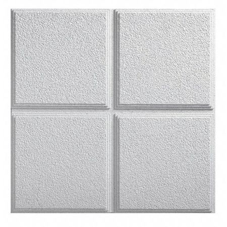 Armstrong Cirrus Ceiling Tile,  24 in W x 24 in L ,  PK12 585A