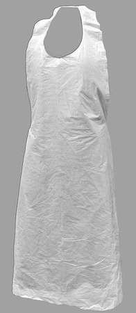 Action Chemical Apron, 46in.Lx28in.W, White, PK1000 A-DP-46-W