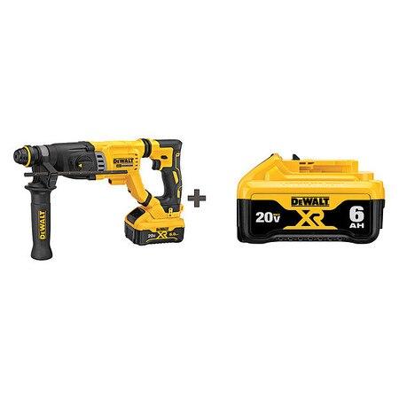 Dewalt Cordless Rotary Hammer,  Battery Included,  Series: 20V MAX(R) DCH263R2/DCB206