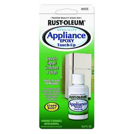 Rust-Oleum Appliance Touch Up Paint, White, 0.6 oz. 203000