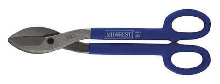 Midwest Snips Tinners Snip,  Straight/Wide Curves,  16 in,  Molybdenum Alloy Steel MWT-167B