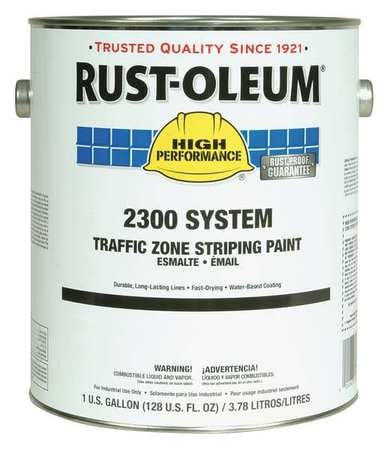 Rust-Oleum Traffic Zone Striping Paint,  1 gal.,  Traffic Red,  Water -Based 283868